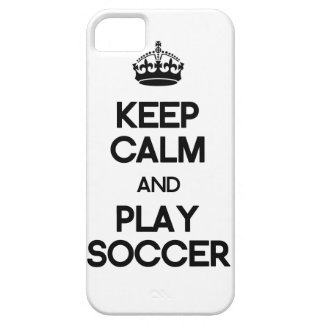 Keep Calm And Play Soccer iPhone 5 Covers