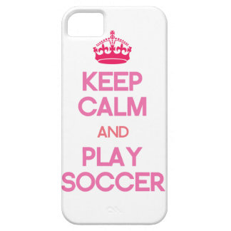 Keep Calm And Play Soccer (Pink) iPhone 5 Covers
