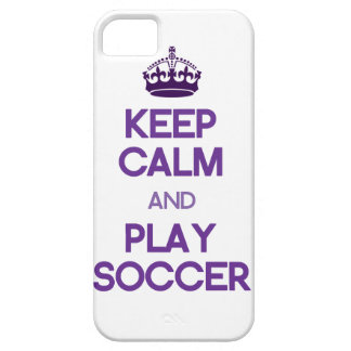 Keep Calm And Play Soccer (Purple) Case For The iPhone 5