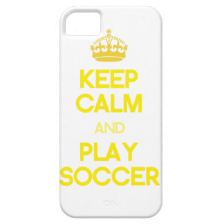 Keep Calm And Play Soccer (Yellow) iPhone 5 Covers