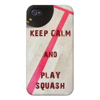 Keep Calm and Play Squash iPhone 4 Cover