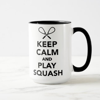 Keep calm and play Squash Mug