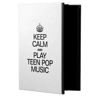 KEEP CALM AND PLAY TEEN POP MUSIC iPad AIR COVERS