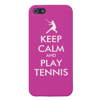 Keep Calm And Play Tennis Iphone Case iPhone 5 Case