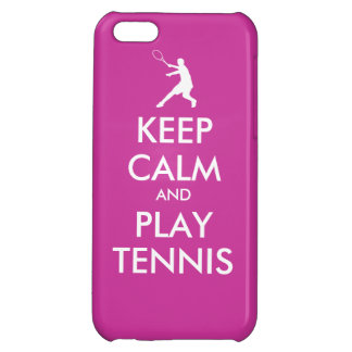 Keep Calm And Play Tennis Iphone Case iPhone 5C Cases