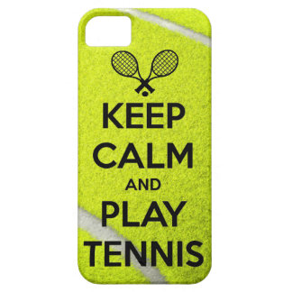 Keep calm and play tennis sport ball racket sports iPhone 5 cover