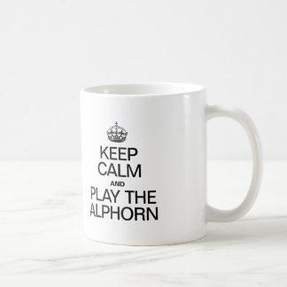 KEEP CALM AND PLAY THE ALPHORN COFFEE MUG