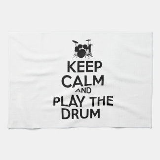 Keep Calm And Play The Drum Kitchen Towel