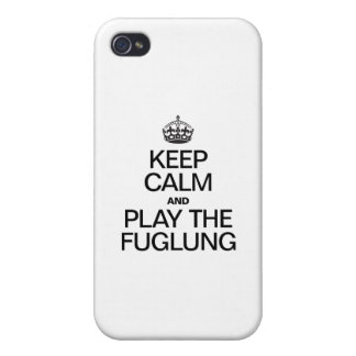 KEEP CALM AND PLAY THE FUGLUNG CASE FOR iPhone 4