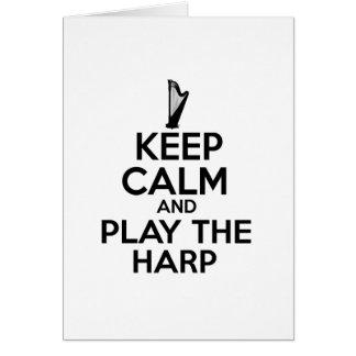Keep Calm And Play The Harp Card