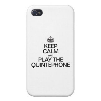 KEEP CALM AND PLAY THE QUINTEPHONE iPhone 4 COVERS