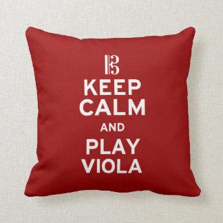 Keep Calm and Play Viola Throw Pillow