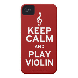 Keep Calm and Play Violin iPhone 4 Cases