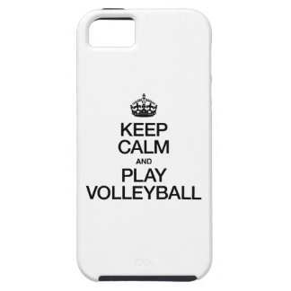 KEEP CALM AND PLAY VOLLEYBALL iPhone 5 COVER