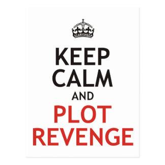 Keep Calm and Plot Revenge Postcard