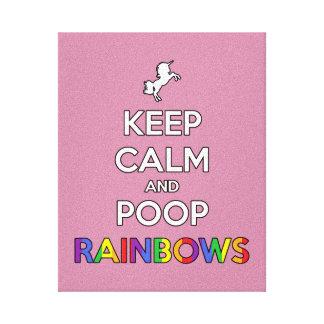 Keep Calm and Poop RAINBOWS! Canvas Print