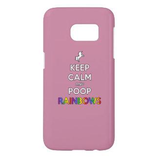 Keep Calm and Poop RAINBOWS! Samsung Galaxy S7 Case