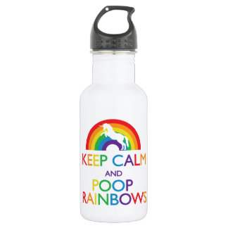 "Keep Calm and Poop Rainbows Unicorn ""Read Below"""