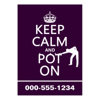 Keep Calm and Pot On (Snooker/Pool) Business Card Template