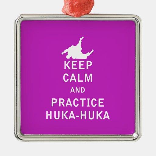 Keep Calm and Practice Huka Huka Christmas Tree Ornaments