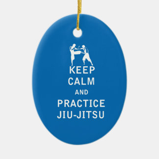 Keep Calm and Practice Jiu-Jitsu Ceramic Ornament