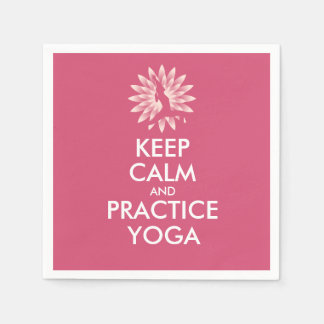 Keep calm and practice yoga paper napkins