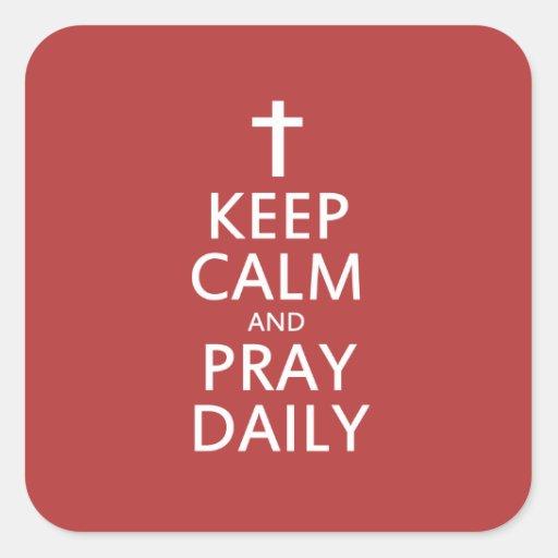 Keep Calm and Pray Daily Sticker