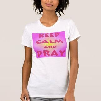 Keep Calm and Pray Women's Heavyweight Tank Top