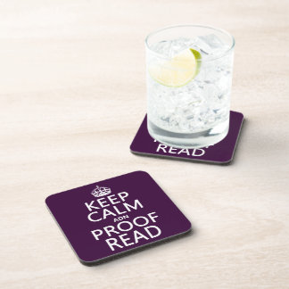 Keep Calm 'and' Proofread (adn) (in any color) Beverage Coasters