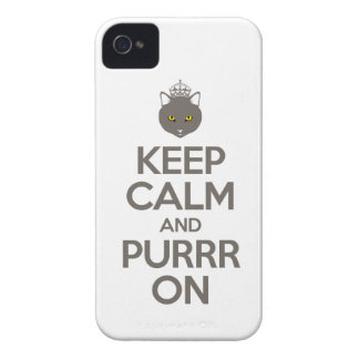 Keep Calm and Purrr On iPhone 4 Case
