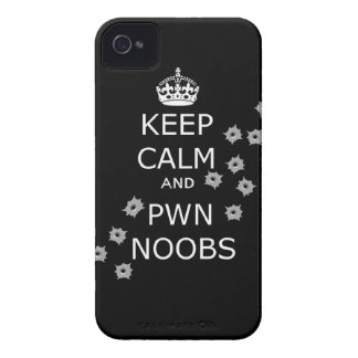 keep calm and pwn noobs phone case Case-Mate iPhone 4 cases
