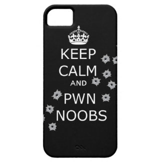keep calm and pwn noobs phone case case for the iPhone 5