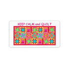 Keep Calm and Quilt Multi Block Patchwork Quilt Label