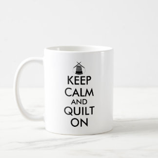 Keep Calm and Quilt On Sewing Thimble Needles Mugs