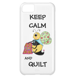 Keep Calm and Quilt Whimsy Honey Bee Art Cover For iPhone 5C