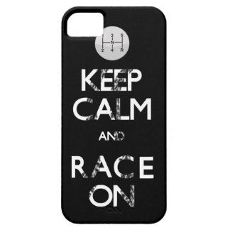 keep calm and race on iPhone 5 case