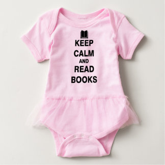 Keep Calm and Read Books Baby Bodysuit
