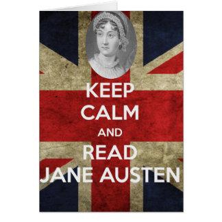 Keep Calm and Read Jane Austen Card