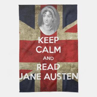 Keep Calm and Read Jane Austen Kitchen Towel