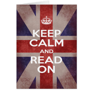 Keep Calm and Read On Union Jack Card