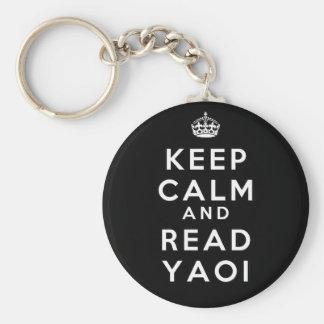 Keep Calm and Read Yaoi Basic Round Button Keychain