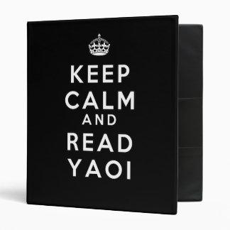 Keep Calm and Read Yaoi Vinyl Binders