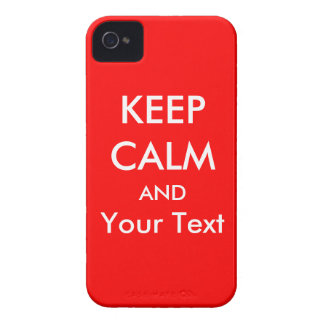KEEP CALM AND - Red Custom iPhone 4/4s Case