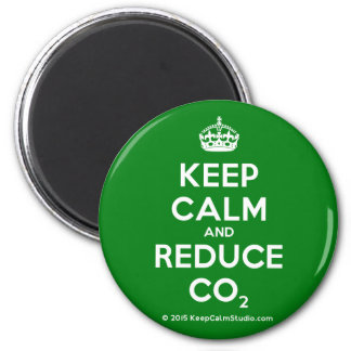 Keep Calm and Reduce CO2 Magnet