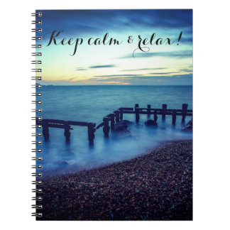 Keep calm and relax notebook