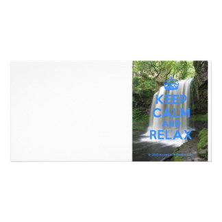 Keep Calm and Relax Photo Card