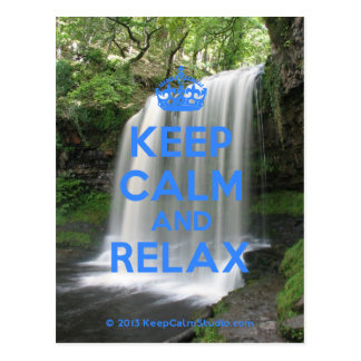 Keep Calm and Relax Postcard