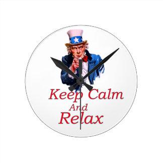 Keep  Calm And Relax Wallclocks