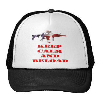 Keep Calm And Reload Hats