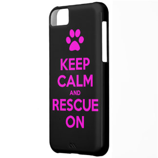 Keep Calm And Rescue On Animal Rescue iPhone 5C Cases